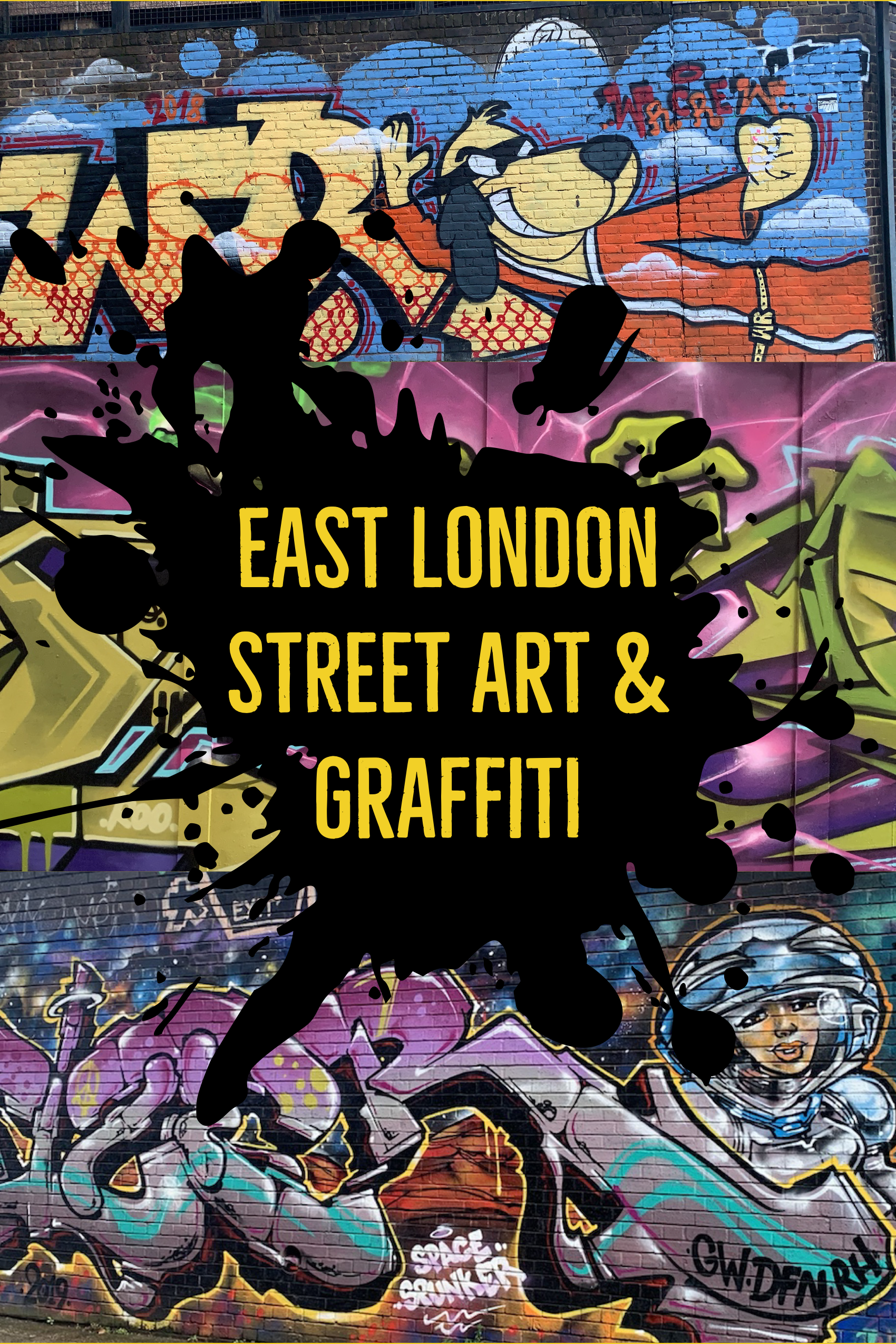 East London street art and graffiti | Most instagrammable places in London (Part 1)