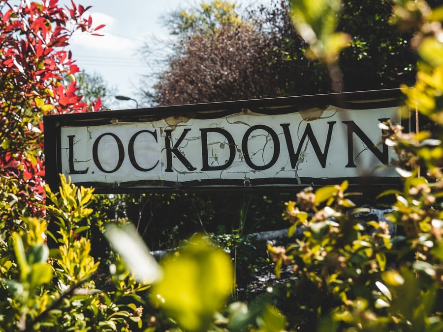 lockdown signboard